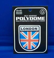 London Union Jack Shield Polydome Raised Badge Sticker PD32