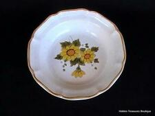 "Mikasa ""Sunny Side"" 1 Rim Soup Cereal Bowl Garden Club Yellow Flowers EB802"