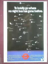 POSTCARD LTM-643 1984  POSTER TO GO BOLDLY BY NIGHT BUS