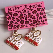 NEW Betsey Johnson Women Drip Cartoon Package Crystal Alloy Earrings BJEA042