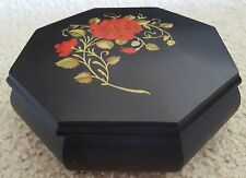 Italian Rose Romance music jewelry hard wood box  Made in Italy great condition!
