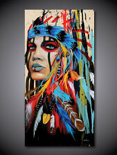 Modern Amazing Animal Art Oil Painting On Canvas indian (  Framed)