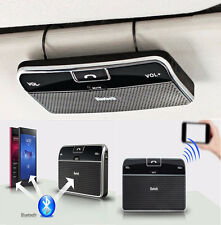 Slim Car Drive Wireless Bluetooth Handsfree Speaker Phone MP3 Kit Sun Visor Clip