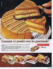 Publicité Advertising 066 1969 Vandamme patissier gâteau