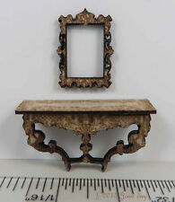 """KIT French Country Console Table and Frame Kit 1:48 1/4"""" jdayminis"""