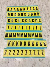 3430 Brady Lot Of A D G I M K Z Letters (New)