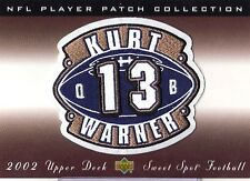 KURT WARNER 2002 SWEET SPOT PATCH FELT STITCHED EMBOSED PATCH SWEET HARD HITS