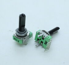 2 x 12mm Alpha A100K 100K Audio Taper Potentiometer Dual Gang D Shaft