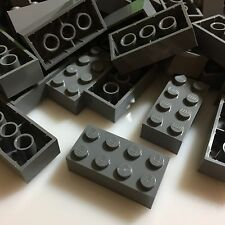 100 NEW LEGO 2x4 Dark Stone Grey Bricks (ID 3001) BULK Blocks gray