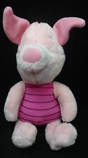 """Piglet Winnie the Pooh and Friends Pink Disney Store Exclusive Plush 12"""" Toy"""