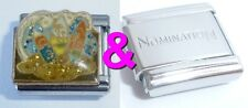 SURF BOARDS 9mm Italian Charm & 1 x Genuine Nomination Classic Link WAVES SURFER