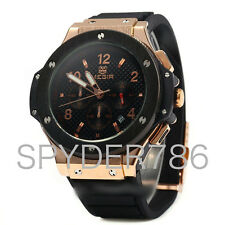 Mens Designer Big Watch Fusion Bang Skeleton Rose Gold godsjunkyard Tourbillon
