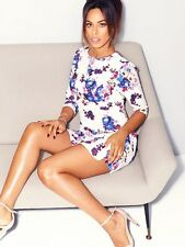 BNWT Rochelle Humes Floral Frill Flippy Hem Evening Occasion Dress Size 14 NEW