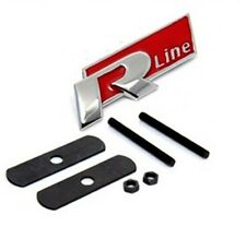 VW R Linea LOGO ROSSO GRILL METALLO AUTO EMBLEMA BADGE TUNING PER POLO PASSAT GOLF UK