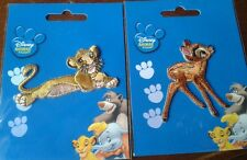 Disney Iron on Patches x 2 Bambi & Lion King