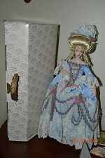 "Franklin Heirloom Doll Porcelain 16"" Marie-Antoinette, Queen of France COA & Box"