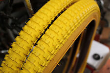 Snakebelly 26 x 2.125 BMX cruiser tire YELLOW/GUM WALL (1 pair)
