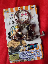"NEW! ONE PIECE USOPP Twin Keyring / 1.2"" 3cm VINYL FIGURE UK DESPATCH"