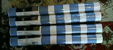 LOT OF 4 56 sq ft ROLLS WALLPAPER IMPERIAL THOMAS KINKADE BLUE WHITE STRIPE