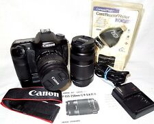 Canon 40D 10.1 MP DSLR Camera -18-55mm and 55-250MM, Grip, Card, & Card Reader