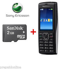 Sony Ericsson Cedar J108a - Black Silver (Unlocked) 3G Phone + 2GB Memory card