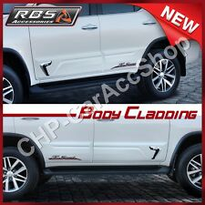 SIDE DOOR BODY CLADDING MOLDING TOYOTA FORTUNER 2015 2016 NoDrilling
