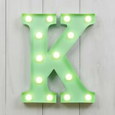 CIRCUS STYLE LED LIGHT UP METAL LETTER - K 'RAW'