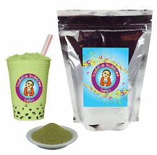Green Tea Latte Boba / Bubble Tea Powder by Buddha Bubbles Boba (1 Pound)