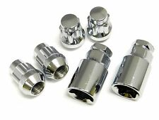 4PC 12X1.5 CHROME STEEL ACORN LUG NUT LOCK SET W/ 2 KEYS CAR TRUCK SUV