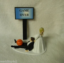 Wedding Party Reception ~Game Over Sign~ Basketball Sport Cake Topper Goal