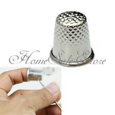 5pcs Finger Thimble Sewing Grip Finger Metal Shield Protector Pin Needle Silver
