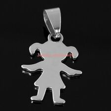 Lot 5pcs 18*24mm Lovely baby girls charms pendant stainless steel Silver Fashion