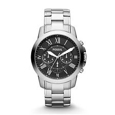 FOSSIL FS4736 Grant Chronograph Black Dial Stainless Steel 44mm Men's Watch