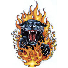 """Fast & Fierce"" Temporary Tattoo, Black Panther in Flames, Fire, USA Made"