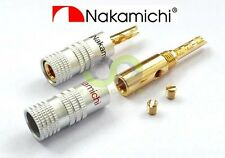 16x Nakamichi 24k Gold Plated Audio BFA Banana Speaker Plug Screw Cable & Wire