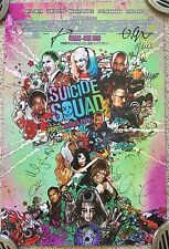SDCC 2016 SUICIDE SQUAD Signed Autograph Cast Poster Will Smith Margot Robbie +