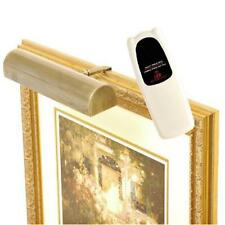 Cordless LED Remote Control Picture Light 11.5 in., Antique Brass