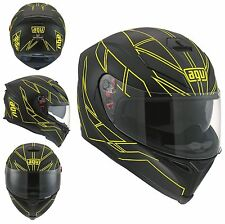 CASCO MOTO INTEGRALE AGV K5 HERO BLACK YELLOW FLUO NERO GIALLO OPACO FIBRA TG L