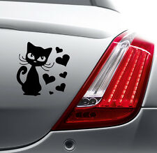 CAT HEARTS FUNNY STICKER Car Bumper Van Window Laptop JDM VINYL DECALS STICKERS