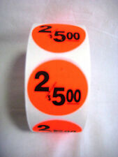 1000 1.5 Round Bright Red 2/5.00 Price Point Retail Labels Stickers