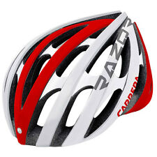 CARRERA RAZOR E00371 ROAD ADULTS PROTECTIVE BIKE CRASH HELMET 58-61cm WHITE/RED