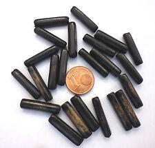 7 Stück Bambus Perlen schwarz ca 5x20 mm Brasilien Stab Holz