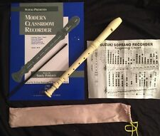 SUZUKI Soprano Recorder SRE-300 Musical 1 Pc Instrument & Modern Classroom Songs