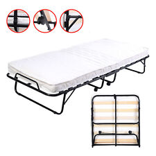 Folding Bed Foam Mattress Twin Roll Away Guest Portable Sleeper Pull Out