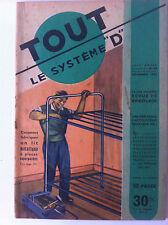 SYSTEME D du 09/1950; Lit Métallique/ Indicateur de vitesse pour vélo/ minuterie