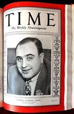 Time Magazine Bound Volume ~ January to March 1930 ~ Al Capone Gandhi