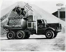 1950 AUTOCAR DC100 BOSTON SAND & GRAVEL REX Mixer Truck 8x10 B&W GLOSSY PHOTO
