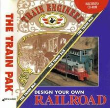 The Train Pak MAC CD design own railroad, engineer locomotive sim game + add-on!