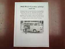 1963 Ford Econoline van factory cost/dealer sticker pricing for base + options $