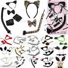 FANCY DRESS ANIMAL SET EARS TAIL DRESS UP INSTANT KIT ANIMAL COSTUME ACCESSORY